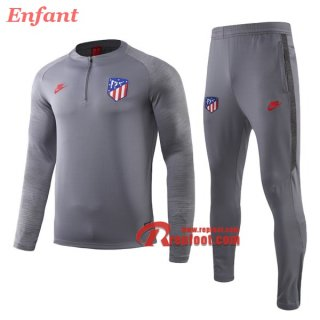 Ensemble Survetement De Atletico Madrid Enfant Gris 2019/2020 Nouveau