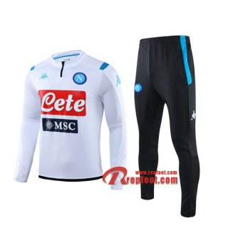 Ensemble Survetement SSC Naples Blanc 2019 2020 Nouveau
