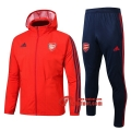 Ensemble Veste Coupe-Vent Survetement Arsenal FC Rouge 2019 2020 Nouveau