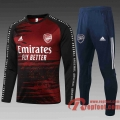Arsenal Survetement Foot Noir-Rouge 20 21 B437