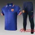 Barcelone Polo de foot 20 21 bleu C491#