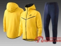 Sport Survetement Foot Sport Sweat a Capuche - Veste Jaune 20 21