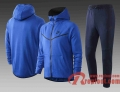 Sport Survetement Foot Sport Sweat a Capuche - Veste bleu 20 21