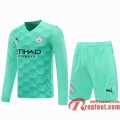 Manchester City Maillots foot Gardiens de but Manche Longue blue-green 20 21
