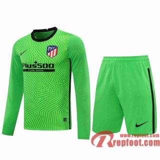 Atletico Madrid Maillots foot Gardiens de but Manche Longue green 20 21