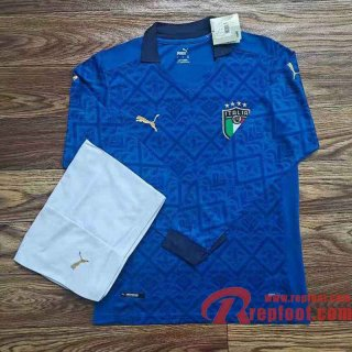 Italie Maillots foot Domicile Manches longues Stadium 20 21
