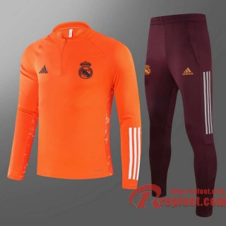 Real Madrid Survetement Foot Orange - 20 21 T60