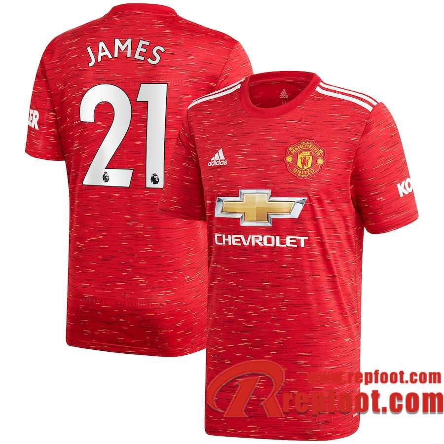 Faux 2020 2021 Maillot de foot Manchester United Daniel James #21 Domicile